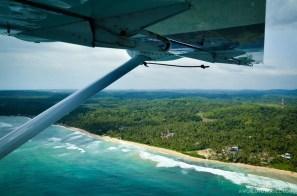 Seaplane flight over Galle, Sri Lanka