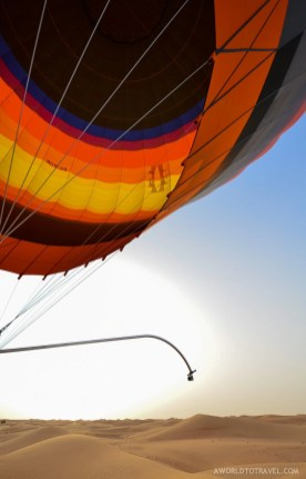 Hot Air Balloon Ride over Dubai's desert, UAE.