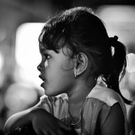 Looking at her face you can imagine how impresive the show was. (in Yogyakarta)