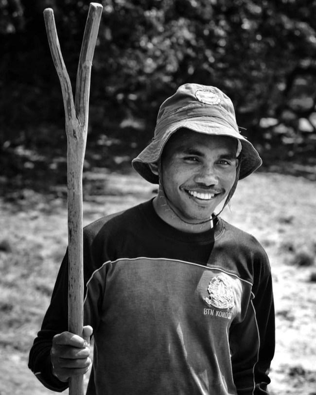 Meet Benjamin A Komodo National Park Ranger Who Leads The Tourists Around The Rinca Island