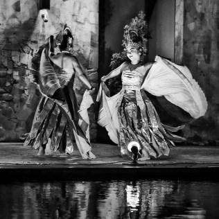 Balinese dancers in Mercure Kuta Beach Bali.