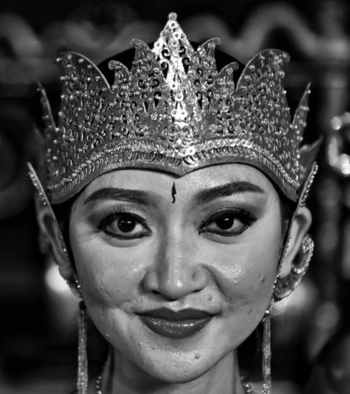 One of the dancers at the Ramayana Ballet Show Prambanan, Indonesia. The show has the majestic Prambanan temple as background. At Ramayana ballet Open Air Theatre Prambanan.
