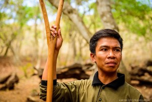 One of Rinca Island's rangers, Komodo National Park, Indonesia