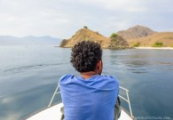 Calm waters as we approach Komodo National Park, Indonesia