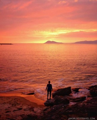 October sunset by the beach in Galicia - A World to Travel