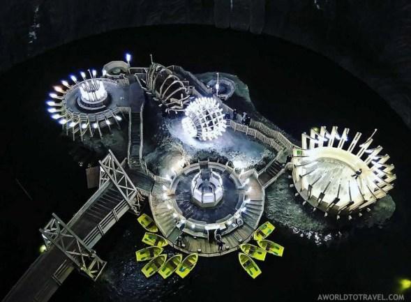 Salina Turda Amusement park from above - Transylvania - Romania - A World to Travel