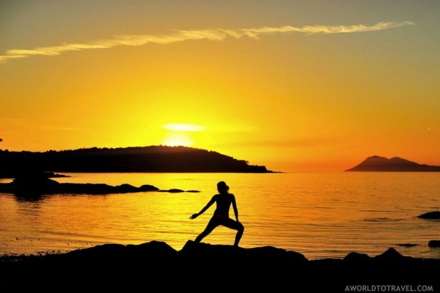 Yoga at sunset in Galicia - A World to Travel