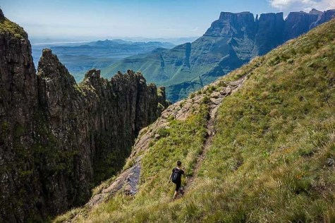 Guide to the Drakensberg Mountains of South Africa - hiker hiking
