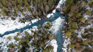 Foto de dron paisaje nevado - Estonia - Road Trip por los Paises Balticos - Mapa Guia Ruta - A World to Travel