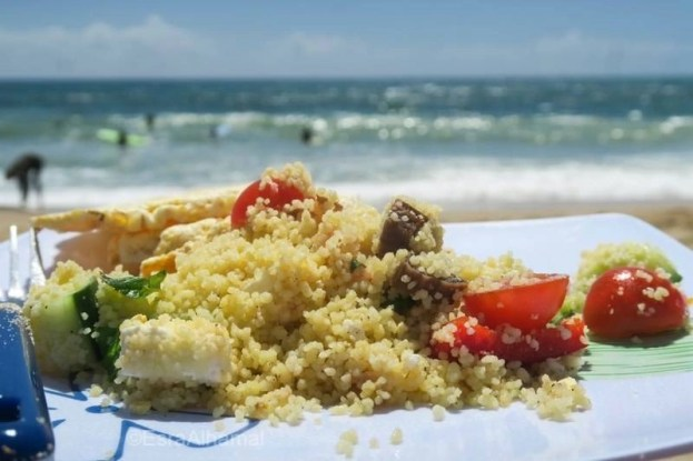 lunch on the beach - Surf and Yoga Retreat in Portugal - Chicks on Waves - A World to Travel