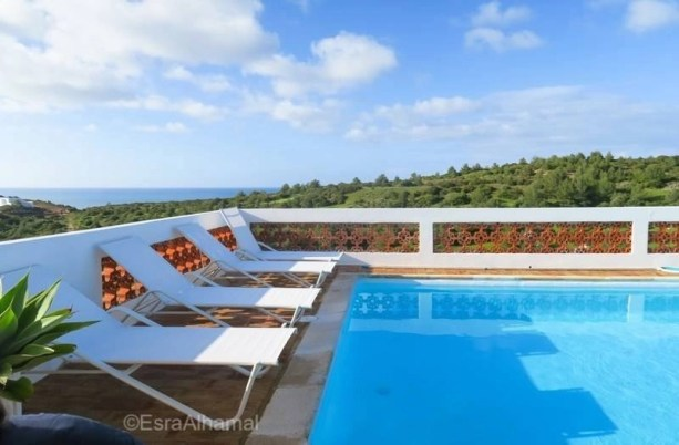 One Life Lodge villa pool - Surf and Yoga Retreat in Portugal - Chicks on Waves - A World to Travel