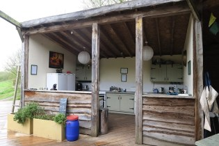 Communial Area 4 - South Wales Glamping Hidden Valley Yurts Review - A World to Travel