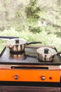 Glisten glamping outdoors kitchen - Epic Destinations Camping South of France - A World to Travel (2)