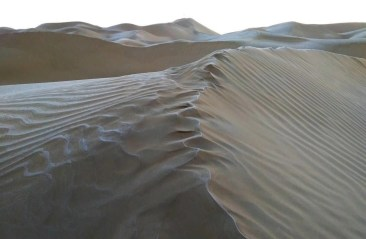 Icy dunes - China - Silk Road Travel - A Central Asia Overland Trip - A World to Travel