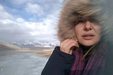 The author in the Karakoram - China - Silk Road Travel - A Central Asia Overland Trip - A World to Travel