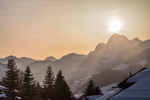 Megeve sunset - Best Winter Destinations In Europe - A World to Travel