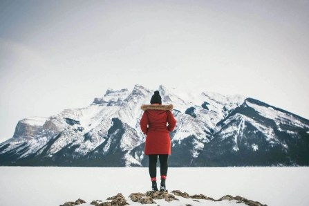 Minnewanka Lake in Winter - Banff Travel Guide - A World to Travel