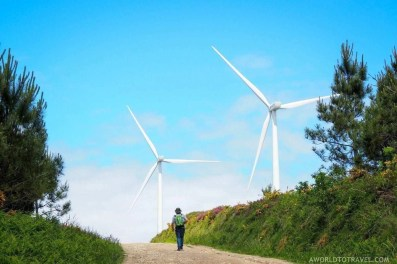Galicia green energy windmills - A World to Travel