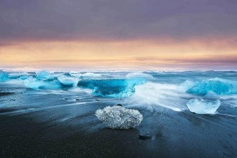 Jökulsárlón beach - A World to Travel