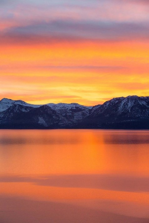 Tahoe sunset - A World to Travel