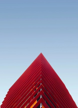 Red façade - Netherlands architecture - A World to Travel