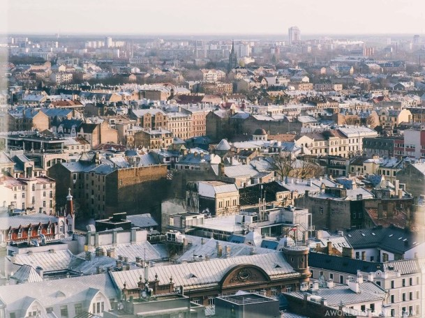 Riga in Fall - Views from Skybar Radisson Blu - A World to Travel (2)
