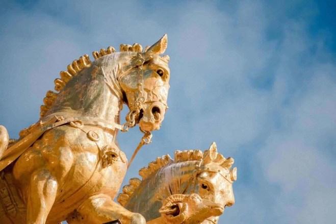 Golden horse statues at Parc de la Ciutadella - 2 day itinerary Barcelona