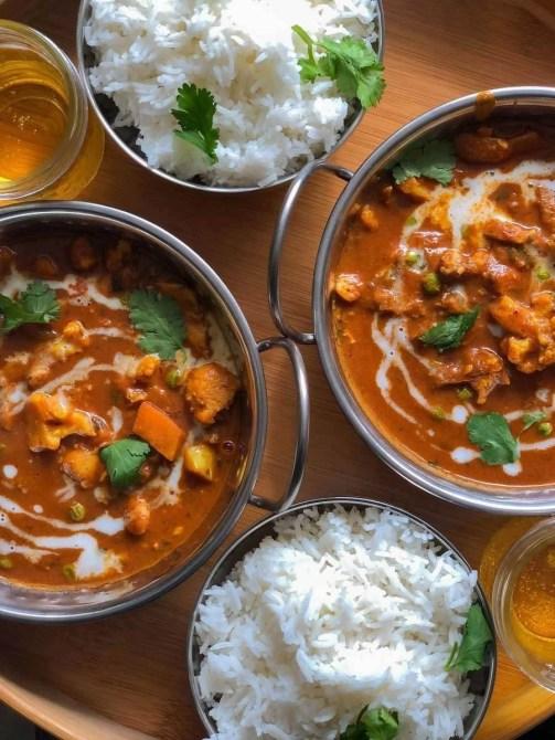 Indian food flat lay
