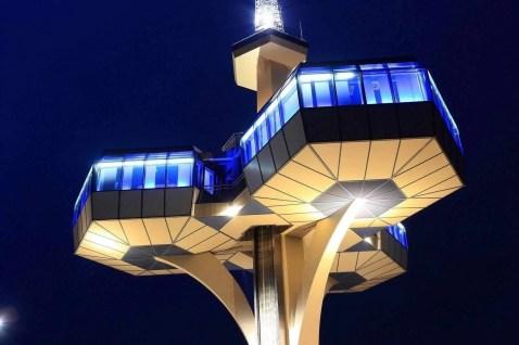 Telecommunications tower in Podgorica Montenegro
