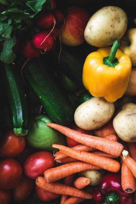 Vegetables flat lay