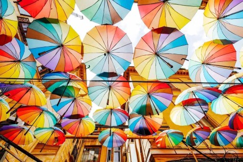 Bucharest umbrella gallery - Most instagrammable places in Romania's capital city