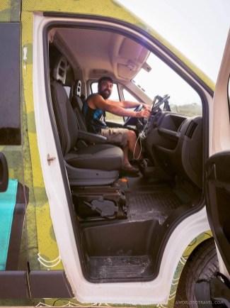 Jose driving our Indie Campers campervan Active Plus