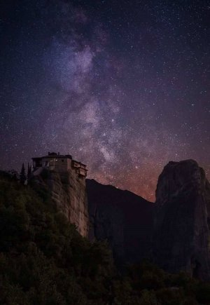Meteora summer nightscape