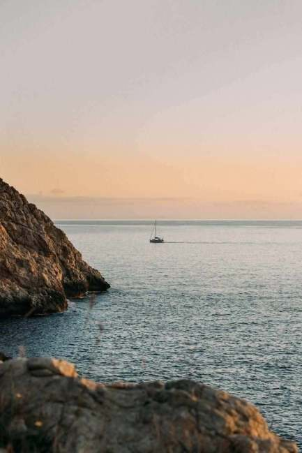 Sunset sailing in the Balearic Islands