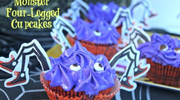 Monster Four Legged Cupcakes