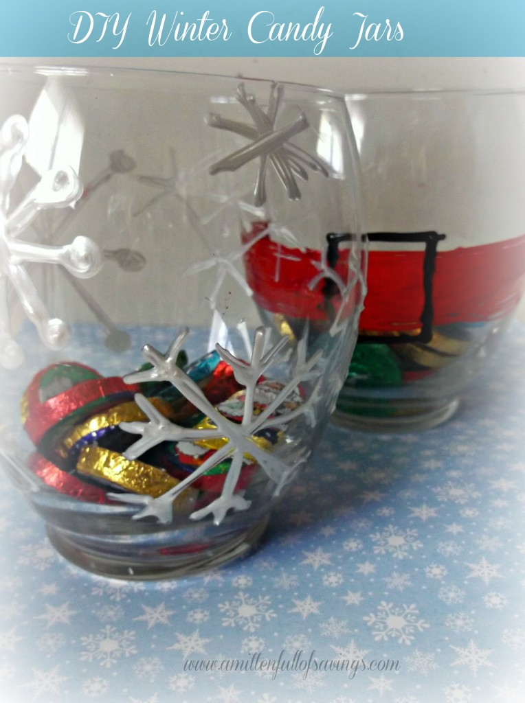 DIY Winter Candy Jars are ideal for letting kids make something fun and easy for giving as holiday gifts! For simple yet fun gifts - look no further!