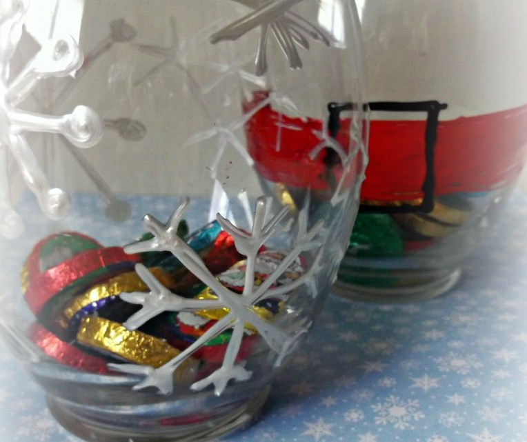 DIY Winter Candy Jars