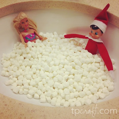 Elf hanging out with Barbie