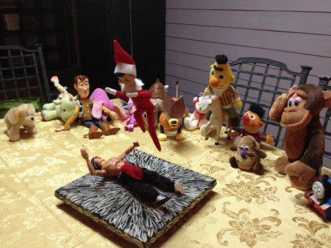 The only rule about fight club- best adult Elf on the Shelf ideas