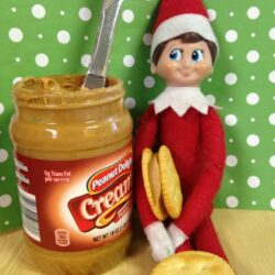 Elf on The Shelf Ideas: Elfie Grabs A Snack