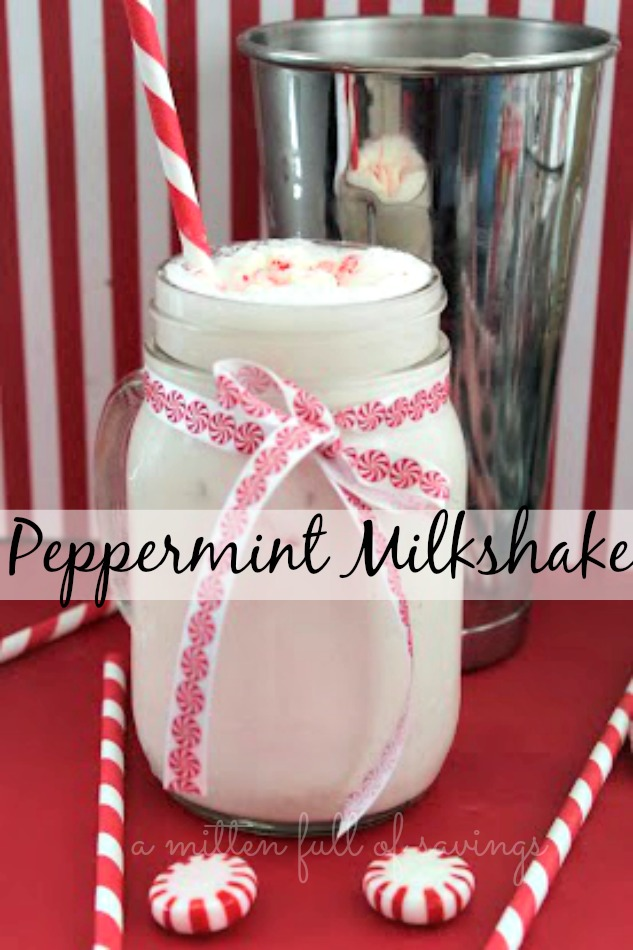 Easy peppermint recipe that will be great around Christmas time. Easy peppermint milkshake recipe.