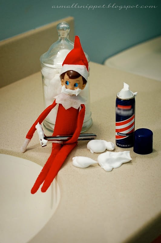 Elf tries to shave idea