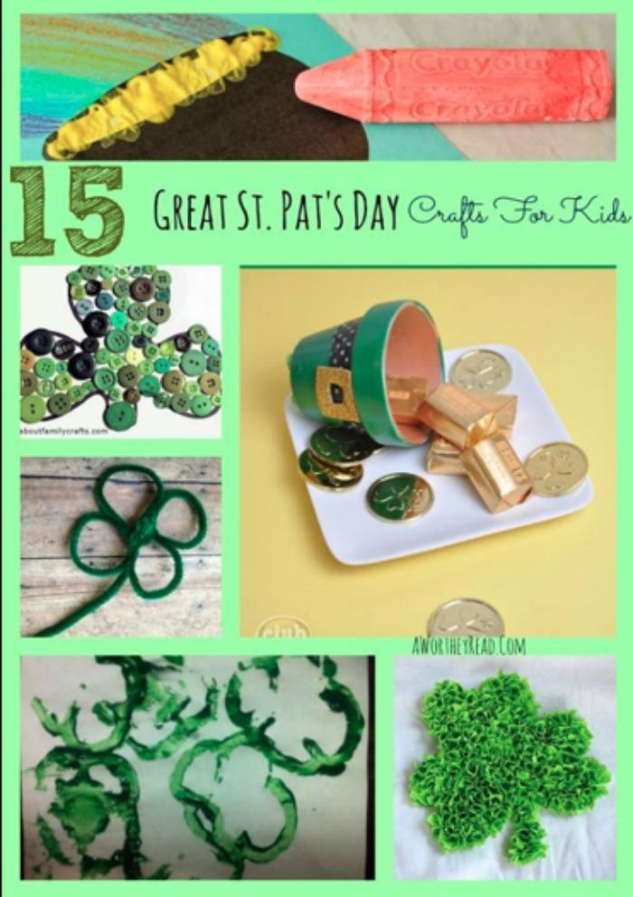st patricks ideas, st patricks, crafts for kids, easy crafts for kids