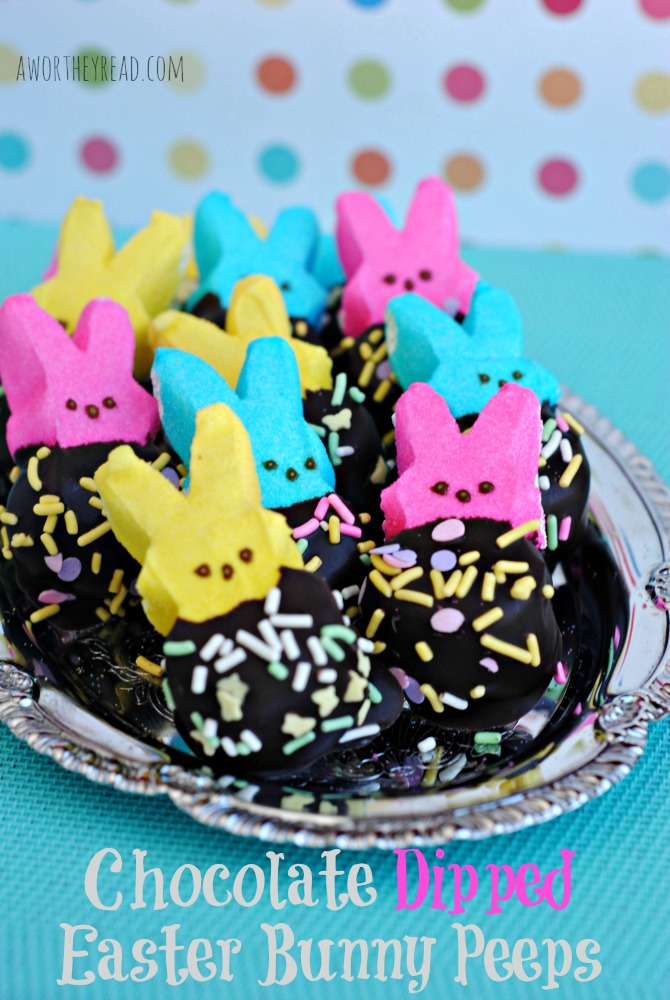 Chocolate Dipped Easter Bunny Peeps