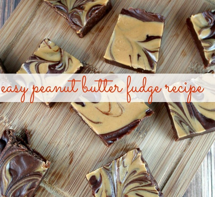 Super easy recipe for Peanut Butter Fudge. This fudge recipe requires only two ingredients!