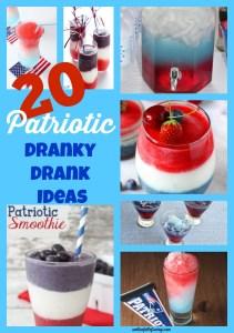 20 Dranky Drank Ideas {Great 4th of July Drink ideas}