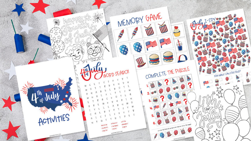 Free 4th of July Kid Printables + Activity Ideas