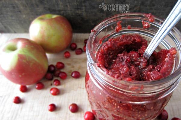 Apple Cranberry Chia Seed Jam