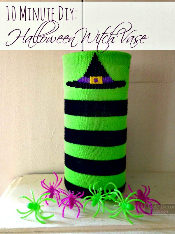 10 minute diy halloween witch vase