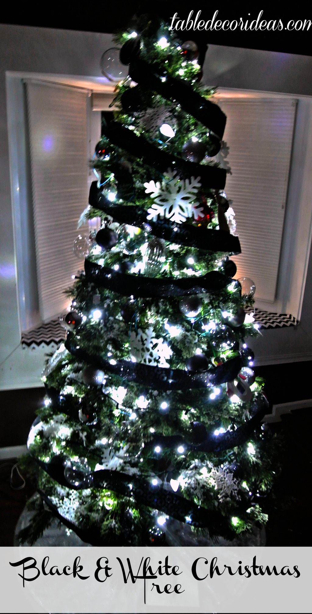 black and white christmas tree theme - What Is A White Christmas